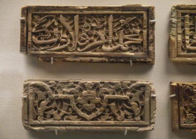 Plaques d'ivoire ornées d'inscriptions et arabesques décoratives - Egypte - Fin du XIIIe-XIVe