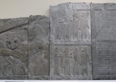 Sculptures du palais de Darius à Persépolis - Copies - 1892