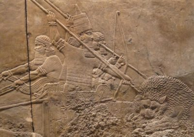 La chasse royale au lion - Ninive, palais Nord - v. 645-635 av. J.C.