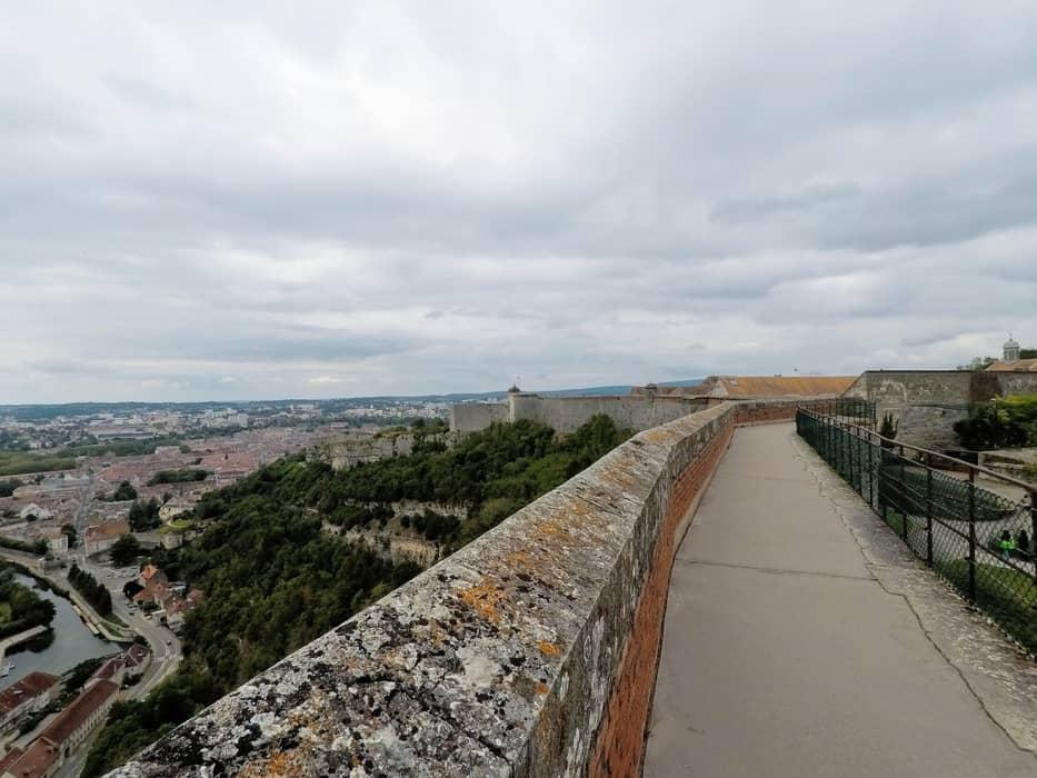 La vue depuis le rempart de la Reine, Citadelle de Besançon
